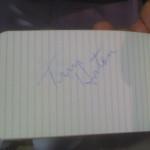 Tim Horton Autograph
