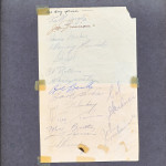 1950-51 Toronto Maple Leafs Stanley Cup Champions Autographs