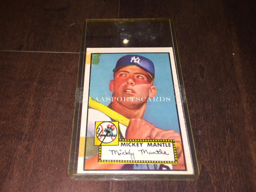 Buying 1952 Topps Mickey Mantle Baseball Card Aasportscards